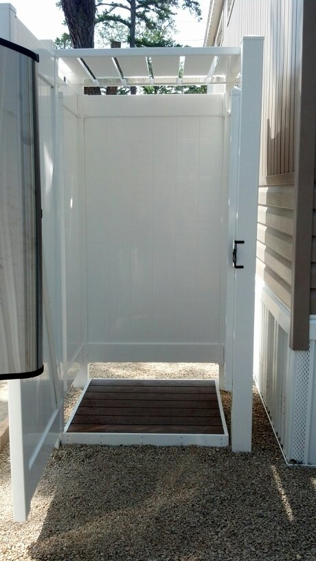 Photo Gallery Of Park Model Outdoor Shower Enclosures For